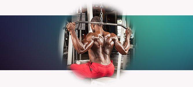 Упражнение тяга вертикального блока к груди