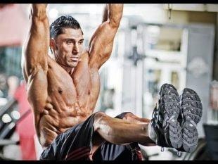 Упражнение «подъем ног в висе»