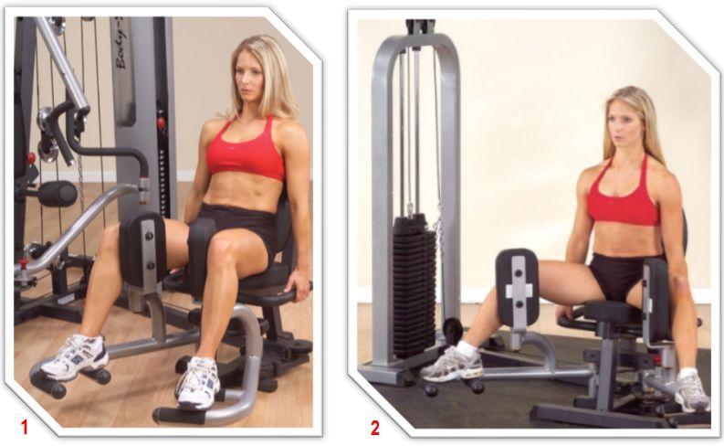 Сведение и разведение ног в тренажере сидя: тонкости упражнения
