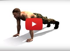 Видео: отжимания обычным хватом