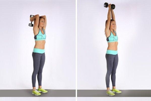 Упражнение стоя для трицепса