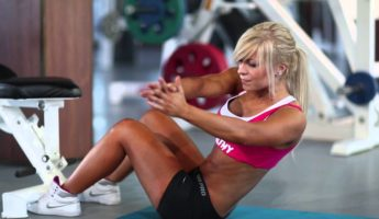 Упражнение скручивания на мышцы пресса