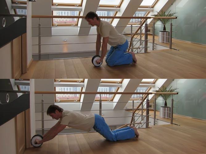 Упражнения с гимнастическим роликом