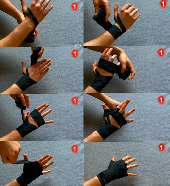 Инструкция, как завязывать бинты для бокса правильно