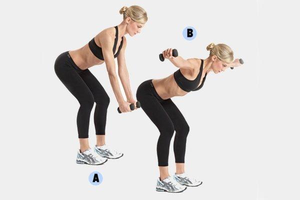 Упражнение в наклоне для плеч
