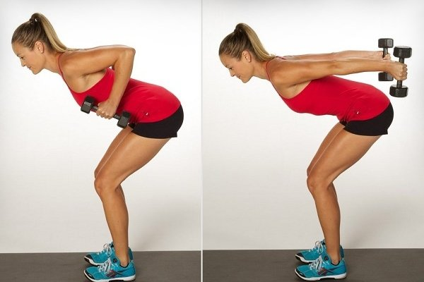 Упражнение в наклоне для трицепсов