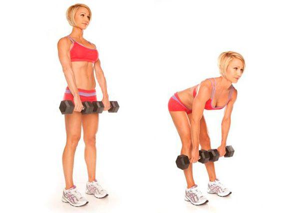 Выбрать упражнения с гантелями