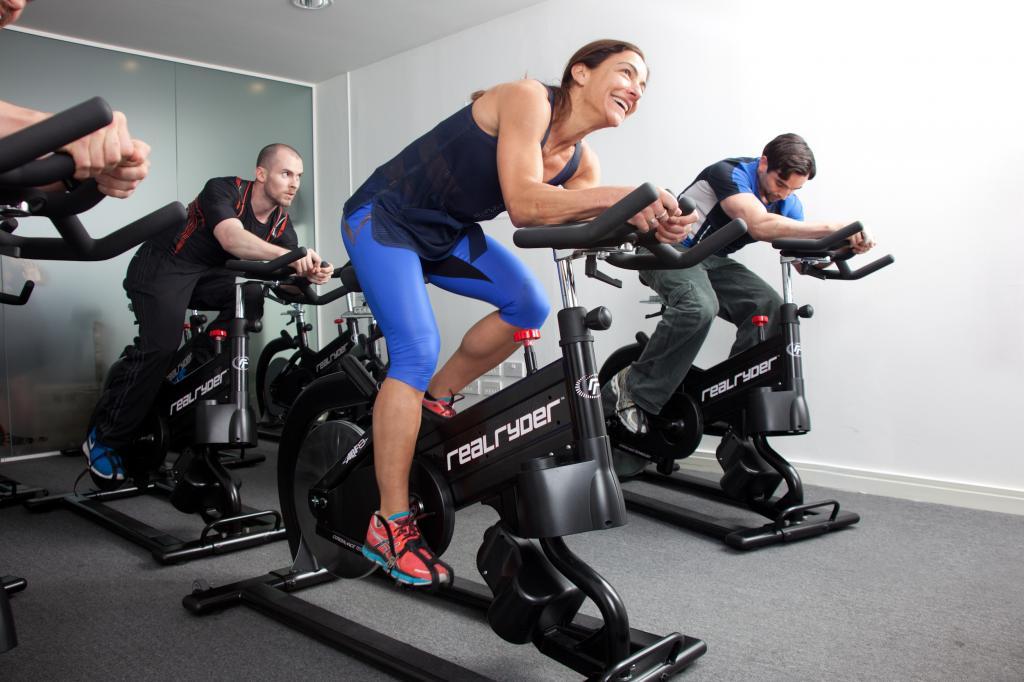 Тренировка велотренажер